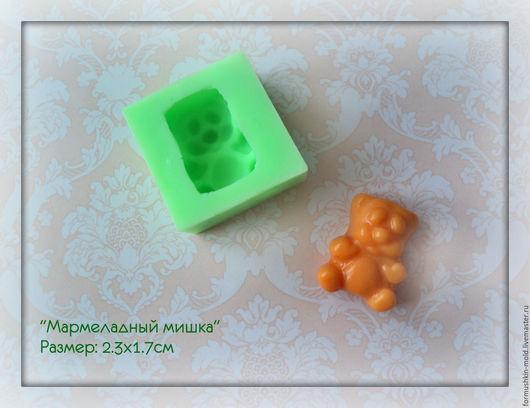 Для украшений ручной работы. Ярмарка Мастеров - ручная работа. Купить Мармеладный мишка. Handmade. Силиконовая форма, силиконовый молд