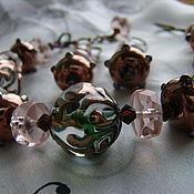 Украшения ручной работы. Ярмарка Мастеров - ручная работа Игры с стекляными шариками - винтажно розовый. Handmade.