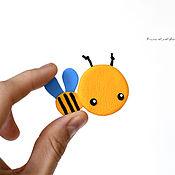 """Украшения ручной работы. Ярмарка Мастеров - ручная работа Брошь """"Пчелка"""". Брошка в подарок для девочки, девушки, ребенка.. Handmade."""