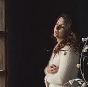Одежда ручной работы. Ярмарка Мастеров - ручная работа кардиган из ангоры, ангоровое болеро. Handmade.
