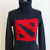 """Одежда ручной работы. Ярмарка Мастеров - ручная работа Вязаный свитер """"DOTA 2"""". Handmade."""