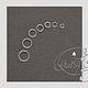 Для украшений ручной работы. Ярмарка Мастеров - ручная работа. Купить Соединительные колечки 925 посеребрённые 3мм 4мм 5мм 6мм 7мм 8мм 9мм. Handmade.