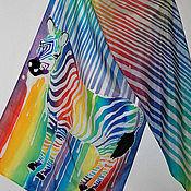 Аксессуары ручной работы. Ярмарка Мастеров - ручная работа Батик шарф Зебра моей жизни.... Handmade.