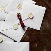 Приглашения ручной работы. Ярмарка Мастеров - ручная работа Бархатный конверт. Handmade.