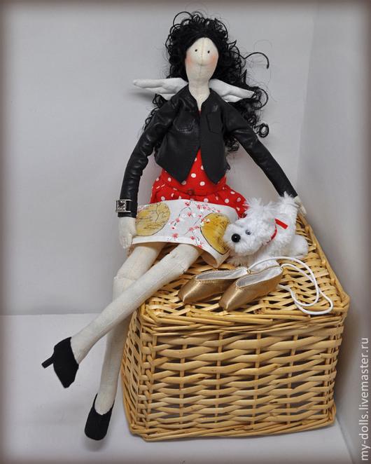 Портретные куклы ручной работы. Ярмарка Мастеров - ручная работа. Купить Портретная тильда для подруги. Handmade. Ярко-красный, акрил