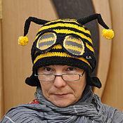 """Работы для детей, ручной работы. Ярмарка Мастеров - ручная работа Шапка пчелка  - """"билайн"""". Handmade."""