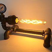 Настольные лампы ручной работы. Ярмарка Мастеров - ручная работа Светильник в стиле Loft/Industrial из водопроводных труб Steampunk Art. Handmade.