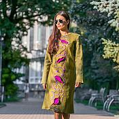 Одежда ручной работы. Ярмарка Мастеров - ручная работа Платье  из шерсти Оливка. Handmade.