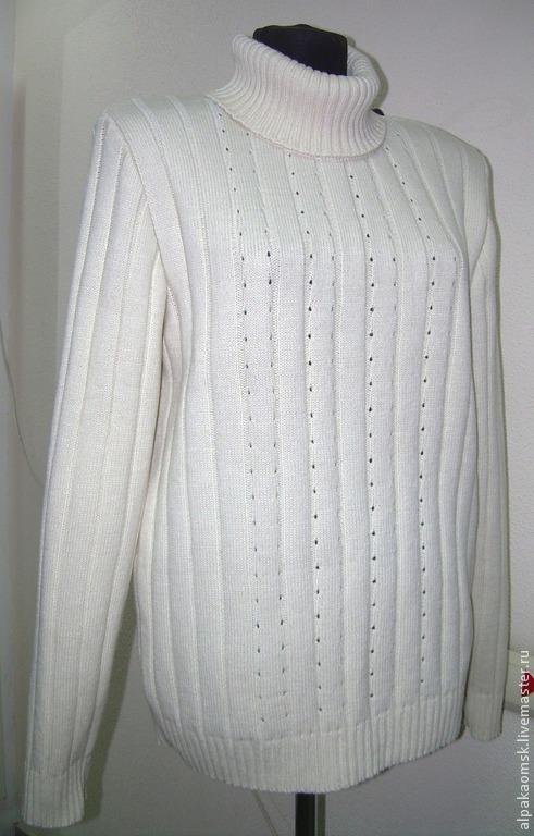 Для мужчин, ручной работы. Ярмарка Мастеров - ручная работа. Купить свитер вязанный мужской. Handmade. Белый, теплый свитер