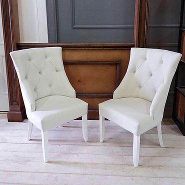 Мебель ручной работы. Ярмарка Мастеров - ручная работа Стулья белая классика. Handmade.