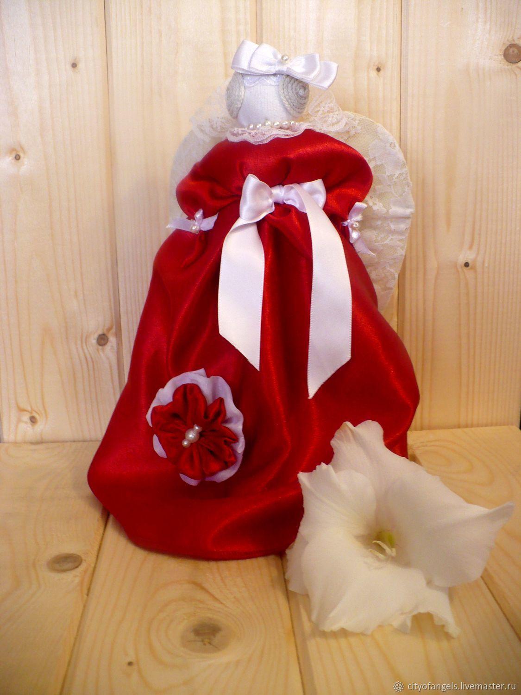 Angel in red_Slavic doll, Stuffed Toys, Nizhny Novgorod,  Фото №1