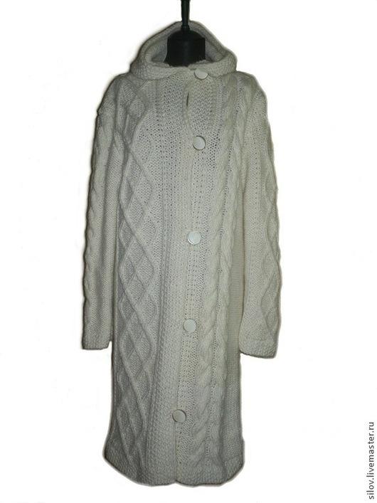 Большие размеры ручной работы. Ярмарка Мастеров - ручная работа. Купить Вязаное пальто для шикарной дамы, стильное вязаное пальто. Handmade.