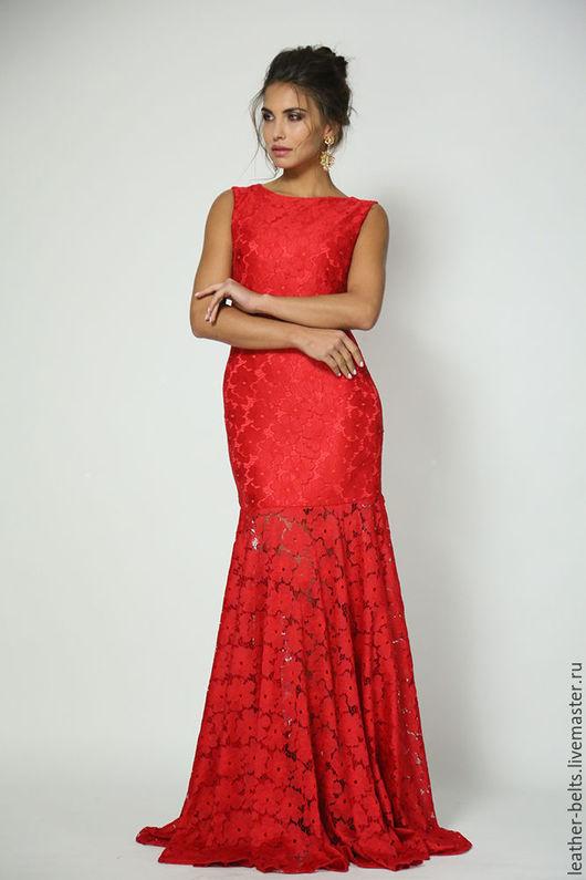 Платья ручной работы. Ярмарка Мастеров - ручная работа. Купить Вечернее платье в пол. Handmade. Ярко-красный, нарядное платье