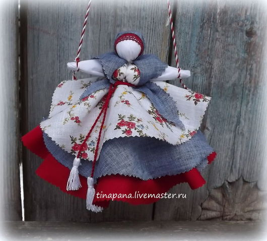 """Обереги, талисманы, амулеты ручной работы. Ярмарка Мастеров - ручная работа. Купить """"Колокольчик"""". Handmade. Кукла-оберег, натуральные ткани"""