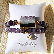 Украшения handmade. Livemaster - original item A set of jewelry made of amethyst. Handmade.