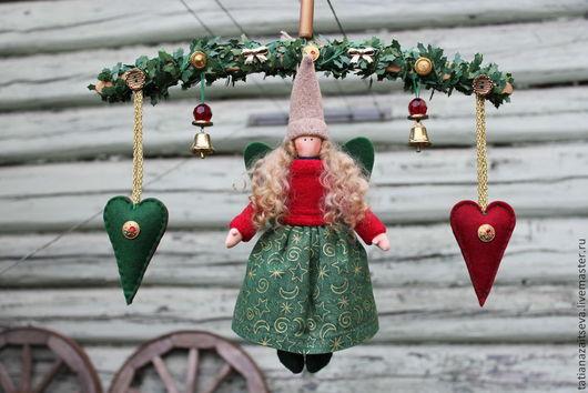Коллекционные куклы ручной работы. Ярмарка Мастеров - ручная работа. Купить Интерьерная текстильная кукла Рождественский Ангел. Handmade.