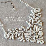 Украшения handmade. Livemaster - original item Glass necklace Polar day, glass fusing. Handmade.