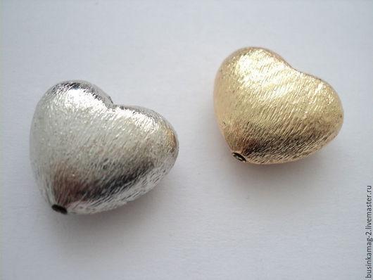 Для украшений ручной работы. Ярмарка Мастеров - ручная работа. Купить Бусина матовые крупные Сердце, пр-во Ю.Корея 16мм, 2 цвета. Handmade.