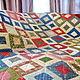 Лоскутное стеганое  одеяло покрывало `Grand Prix` - `Гран-при` . Мастер Lady Olga (Ольга)