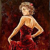 Картины и панно handmade. Livemaster - original item Oil painting Flamenco. Handmade.