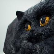 """Сумки и аксессуары ручной работы. Ярмарка Мастеров - ручная работа Валяная сумка  """"Чёрный кот"""". Handmade."""