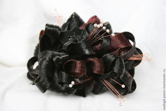 Заколки ручной работы. Ярмарка Мастеров - ручная работа. Купить Заколка ( краб ) из искусственных волос, постиж №24. Handmade.