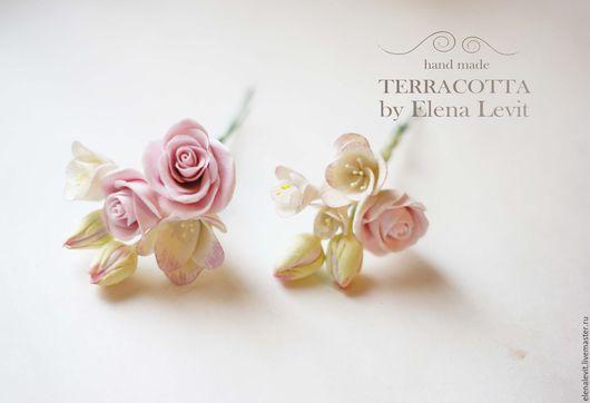 Цветы в прическу из полимерной глины. Terracotta by Elena Levit.