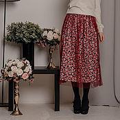 Одежда handmade. Livemaster - original item Skirt in flower with mesh. Handmade.