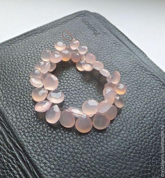 """Для украшений ручной работы. Ярмарка Мастеров - ручная работа. Купить Халцедон """"ROSE Qtz Pink"""", 10-12 мм, сердце. Handmade."""