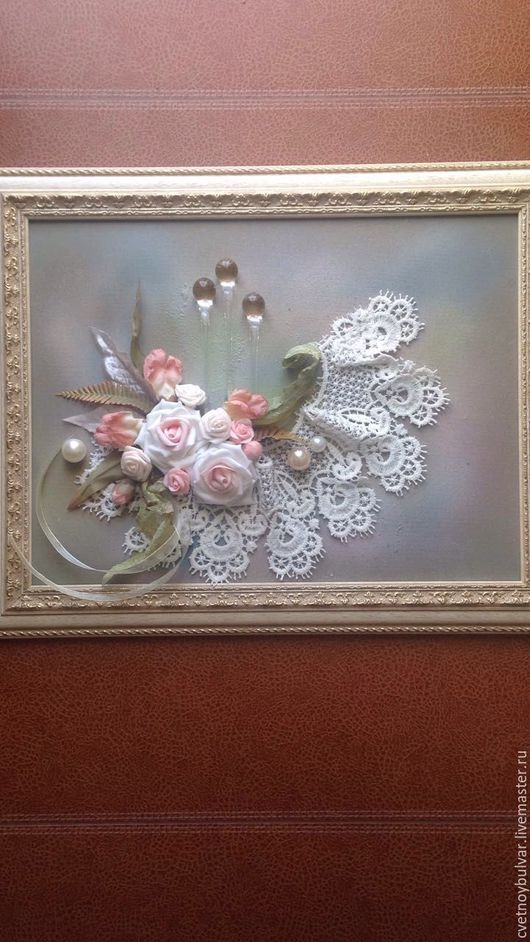 Картины цветов ручной работы. Ярмарка Мастеров - ручная работа. Купить Анжелика. Handmade. Комбинированный, розы, стекло, подарок девушке