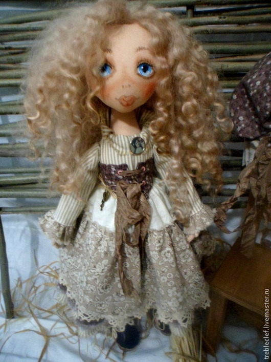 Коллекционные куклы ручной работы. Ярмарка Мастеров - ручная работа. Купить Варя,Варенька,Варвара.... Handmade. Бежевый, подарок