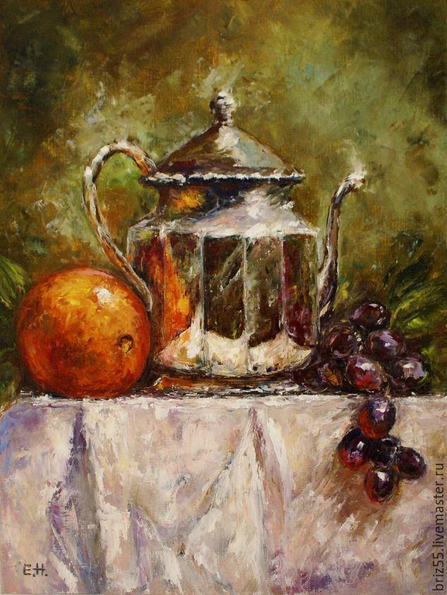 Картина маслом Апельсин и виноград, Картины, Зеленоград, Фото №1