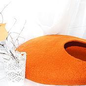 """Для домашних животных, ручной работы. Ярмарка Мастеров - ручная работа Домик для кота из овечьей шерсти """"Оранж"""". Handmade."""