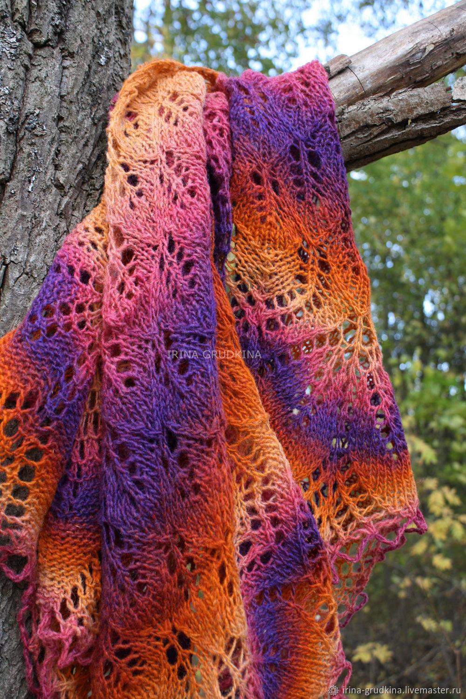 Fire pure wool shawl, Shawls, Lomonosov,  Фото №1