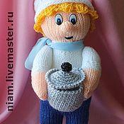 Куклы и игрушки ручной работы. Ярмарка Мастеров - ручная работа Вязаная игрушка Поваренок. Handmade.