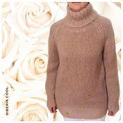 Одежда handmade. Livemaster - original item Sweater female Soft, beige., 25% mohair, 24% wool, 51% acrylic. Handmade.