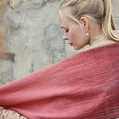 Аксессуары ручной работы. Ярмарка Мастеров - ручная работа Домотканый женский шарф red&black gradient. Handmade.