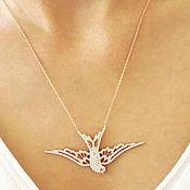 Украшения handmade. Livemaster - original item Swallow pendant 925 silver buy. Handmade.