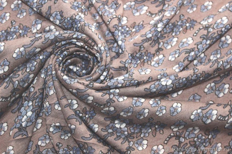 Легкий невесомый трикотаж с печатью, Ткани, Москва,  Фото №1