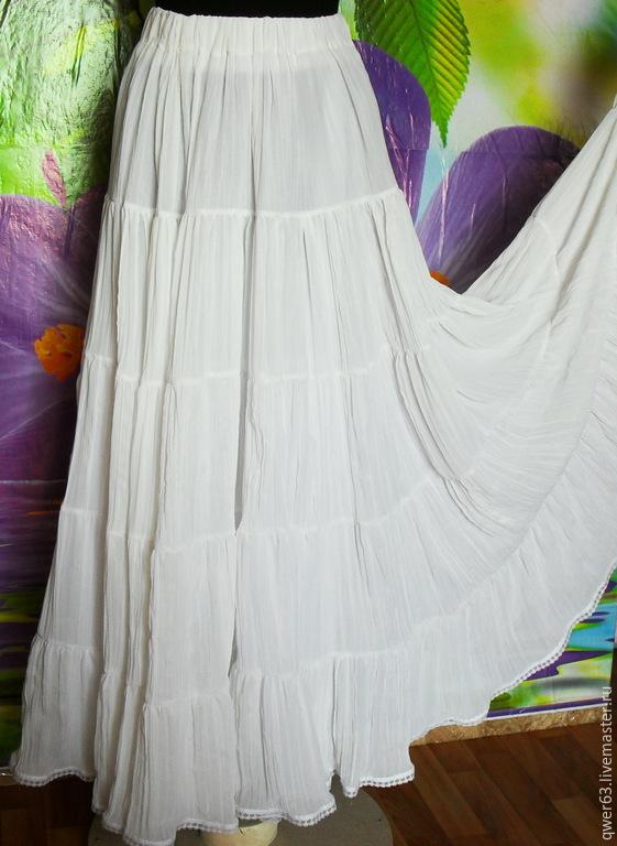 Длинная белая юбка доставка