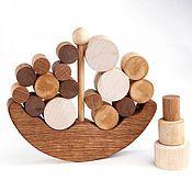 Куклы и игрушки handmade. Livemaster - original item Balancer a wooden Boat. Handmade.