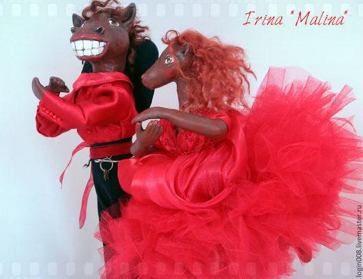 """Коллекционные куклы ручной работы. Ярмарка Мастеров - ручная работа. Купить """"Спектр фламенко"""". Handmade. Ярко-красный, сувенир, сетка"""