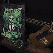 Сувениры и подарки handmade. Livemaster - original item Lovecraft Call of Cthulhu gift box, chest, blue. Handmade.