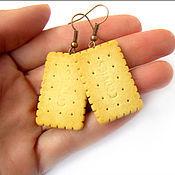 """Украшения ручной работы. Ярмарка Мастеров - ручная работа Серьги """"Cookies"""". Handmade."""