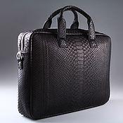 Сумки и аксессуары handmade. Livemaster - original item Python leather folder bag IMP0517B. Handmade.
