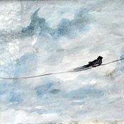 Картины и панно ручной работы. Ярмарка Мастеров - ручная работа Ласточка смотрит в небо.. Handmade.