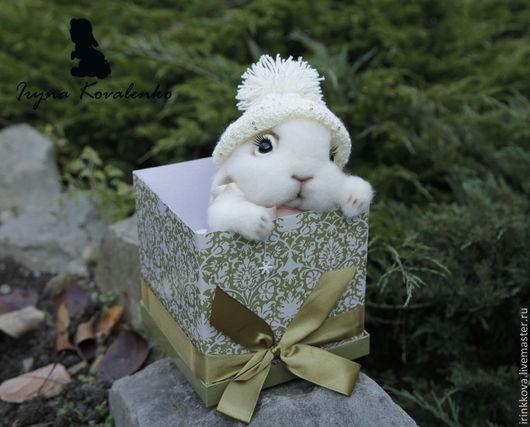 Игрушки животные, ручной работы. Ярмарка Мастеров - ручная работа. Купить Снежинка. Handmade. Белый, кролик, игрушка заяц, белоснежный