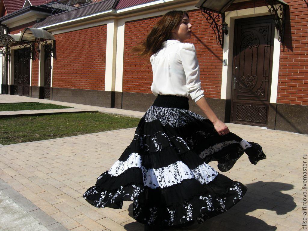 THE FLOOR-LENGTH SKIRT, TIERED: ' SATA-2', Skirts, Tashkent,  Фото №1