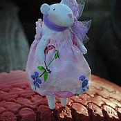 Мягкие игрушки ручной работы. Ярмарка Мастеров - ручная работа Мышка Белая. Handmade.