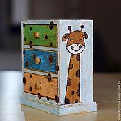 """Для дома и интерьера ручной работы. Ярмарка Мастеров - ручная работа комодик """"жирафики"""". Handmade."""